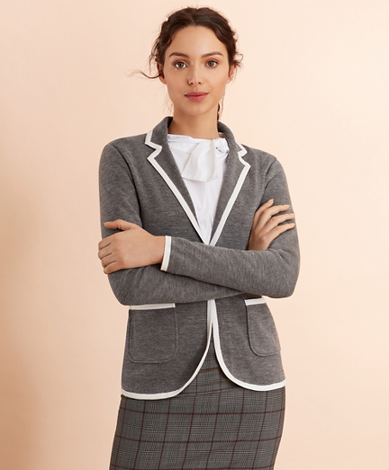 Merino-Wool Knit Rowing Blazer