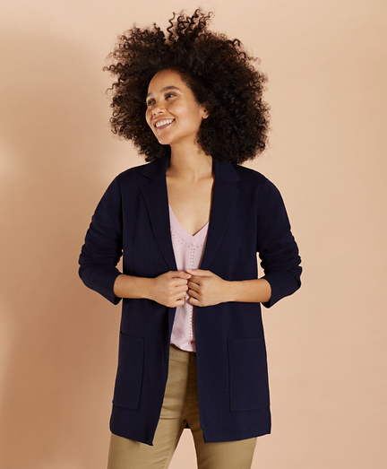 Merino-Wool Sweater Jacket