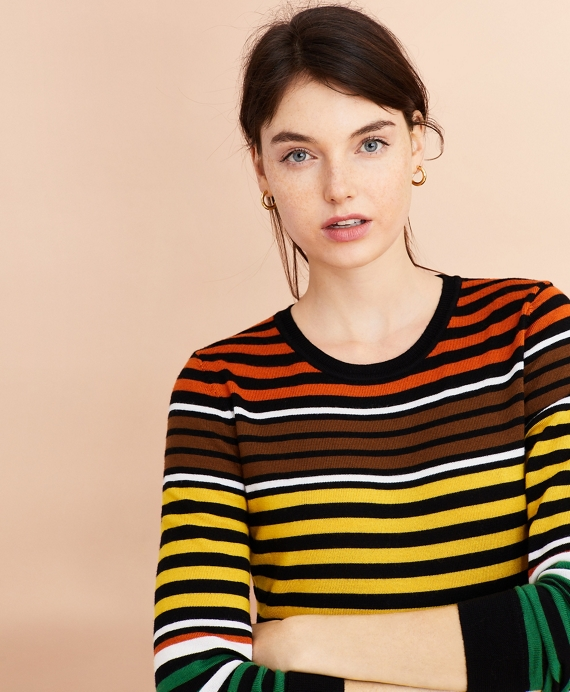 Striped Merino Wool Sweater Multi