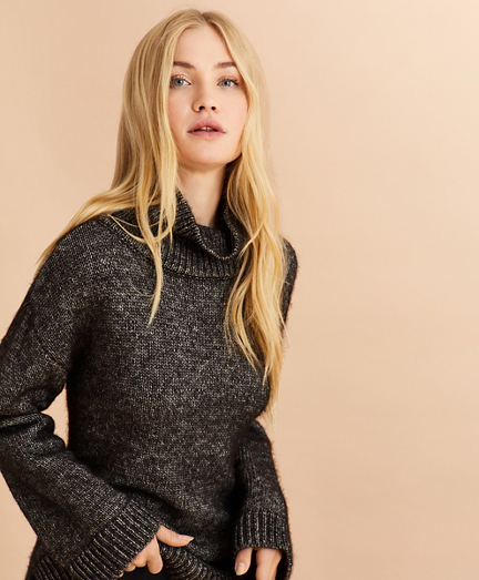 Marled Cotton-Alpaca Oversized Sweater