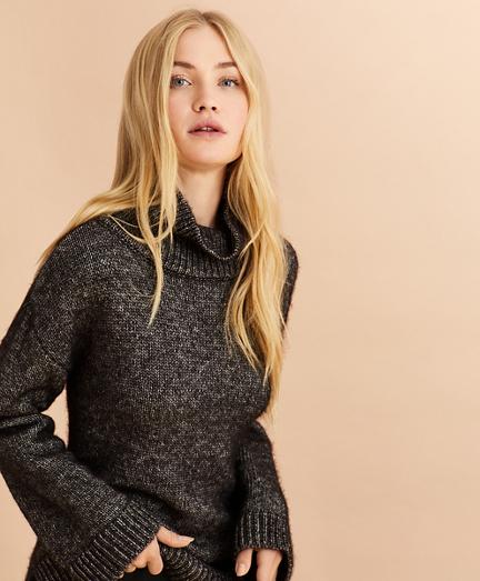 Marled Cotton-Alpaca Oversized Sweater