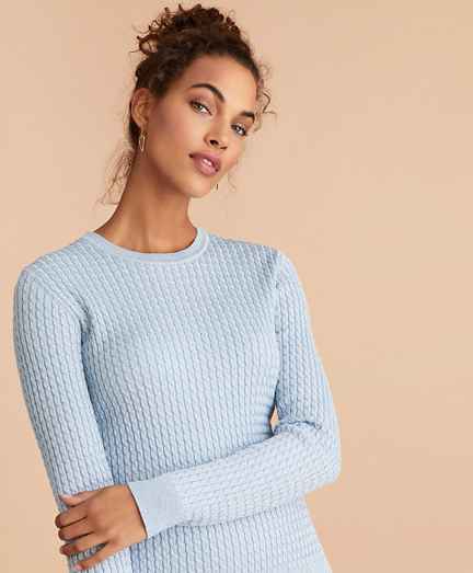 Shimmer-Knit Sweater