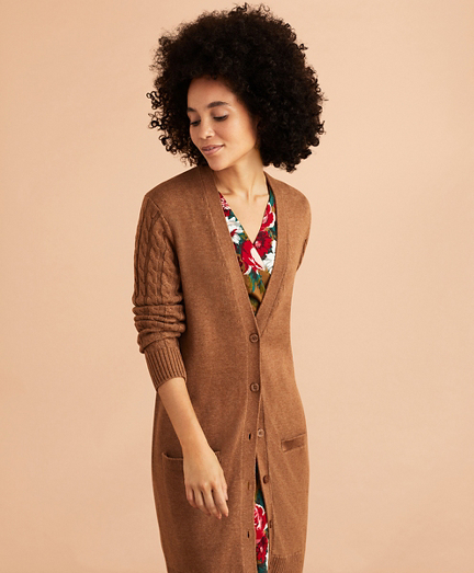 Wool-Cotton Boyfriend Cardigan