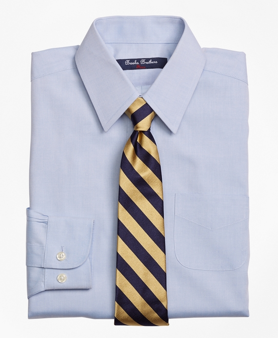 Boys Non-Iron Supima® Pinpoint Cotton Forward Point Dress Shirt Light Blue