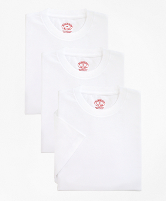 Boys Cotton Crewneck Undershirt - Three Pack