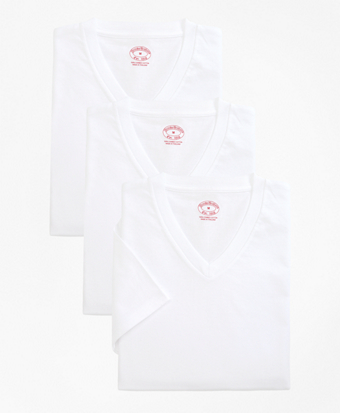 Boys Cotton V-Neck Undershirt - Three Pack