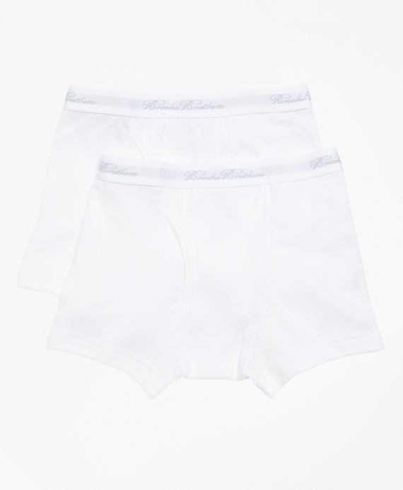Boys Boxer Brief - Two Pack White