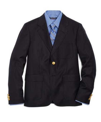 Boys Two-Button Prep Blazer