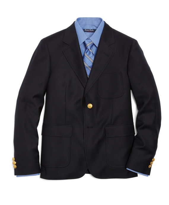 Boys Two-Button Prep Blazer Navy