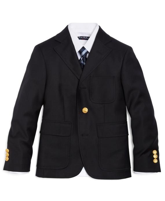 Boys Three-Button Prep Blazer Navy