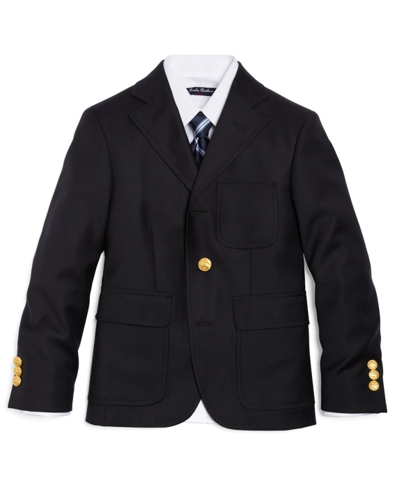 Boys Three-Button Junior Blazer Navy