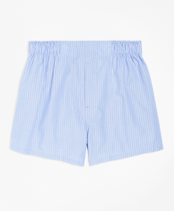 Boys Pencil Stripe Boxers Blue
