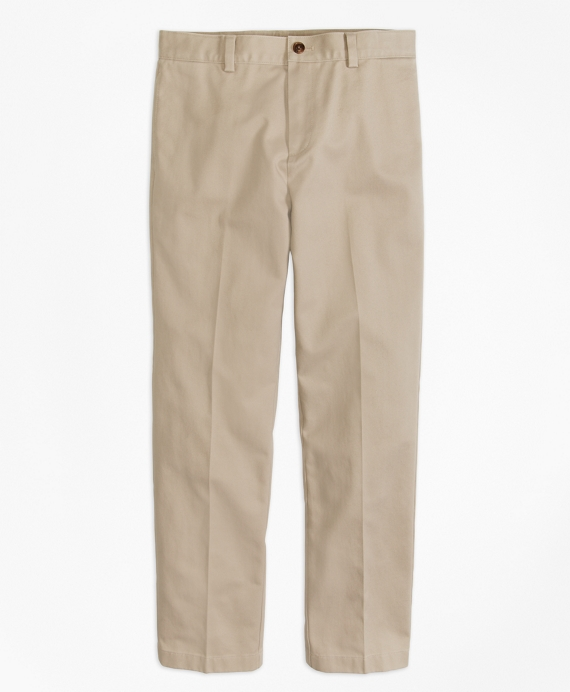 Boys Flat-Front Non-Iron Advantage Chino® Pants Khaki