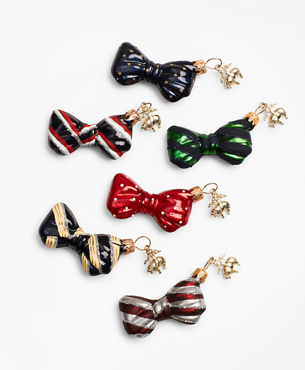 Six-Piece Bow Tie Ornament Set
