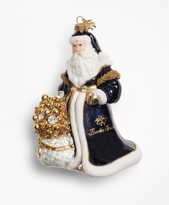 Saint Nicholas Ornament Navy-Gold
