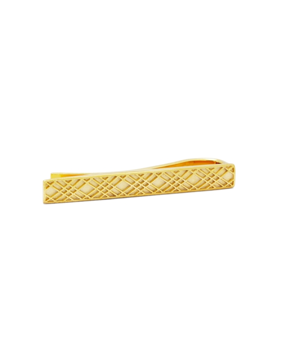 Gold-Plated Crisscross Tie Bar Gold