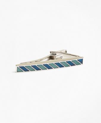 Stripe Enamel Tie Bar