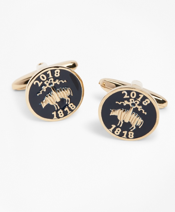 200th Anniversary Gold-Plated Sterling Silver Cuff Links