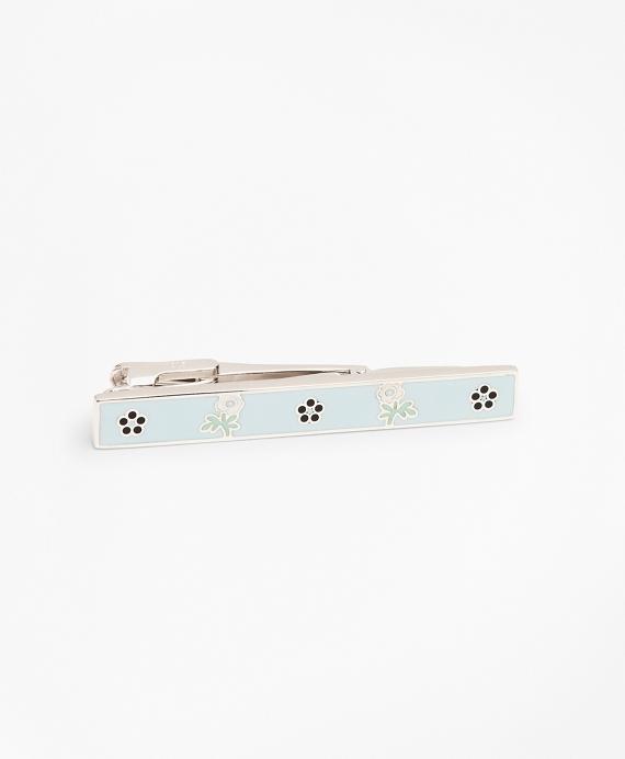 Floral Tie Bar Blue