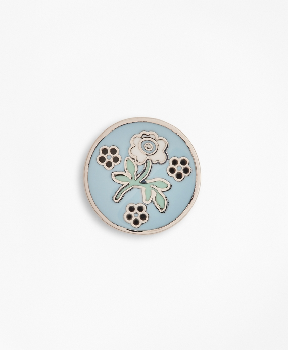 Floral Lapel Pin Blue