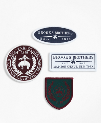 Set of Four Brooks Brothers Patches