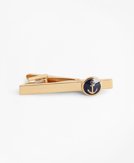 Anchor Medallion Tie Bar Gold