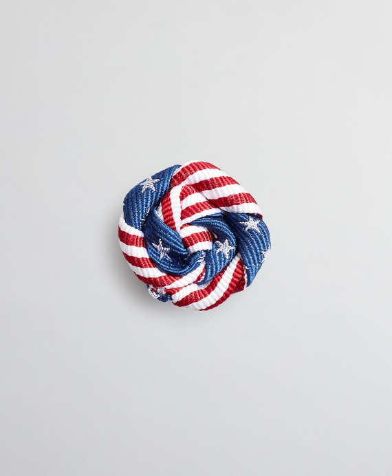 Stars and Stripes Lapel Pin Navy