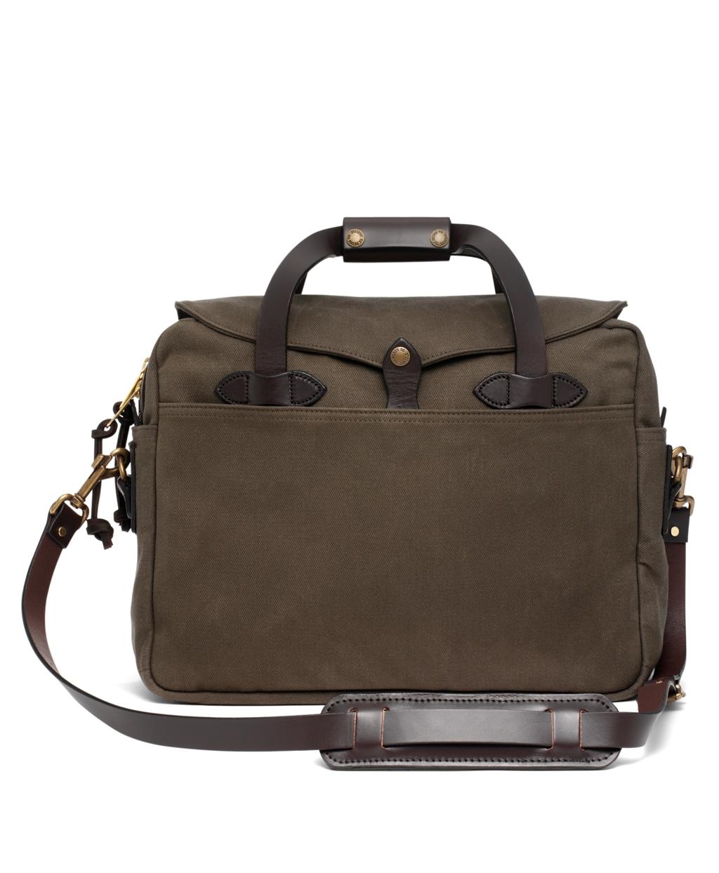 Filson Twill Computer Briefcase Bag Olive