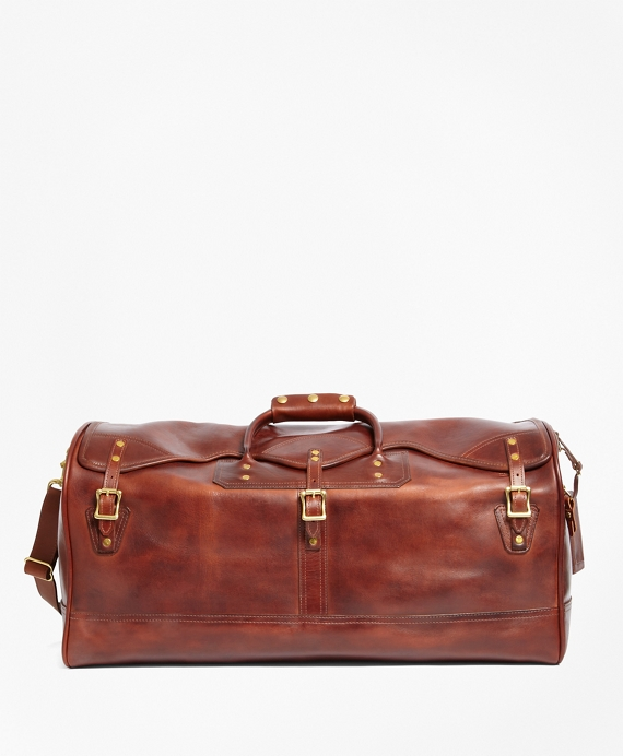 J.W. Hulme Leather Medium Duffel Bag Brown