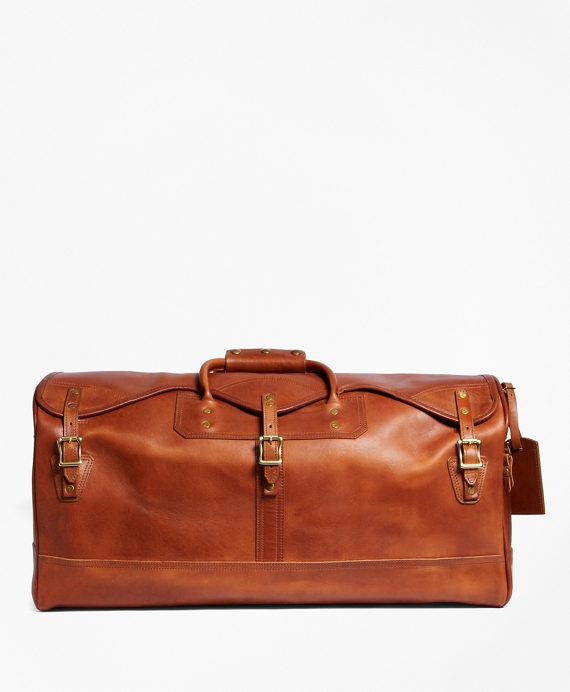J.W. Hulme Leather Medium Duffel Bag Saddle