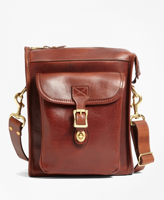 J.W. Hulme Leather Correspondent Bag Brown