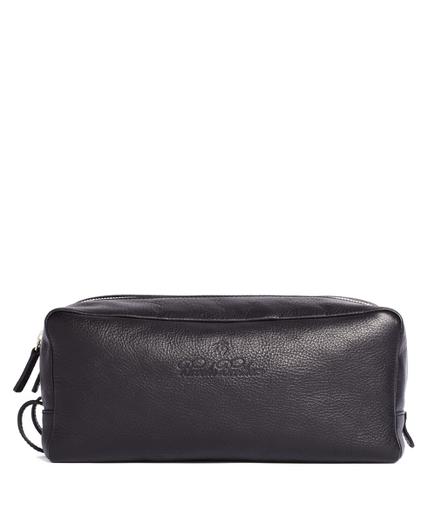 Leather Double-Zip Travel Case