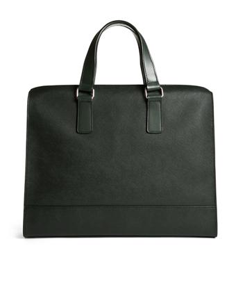 Saffiano Leather Slim Briefcase