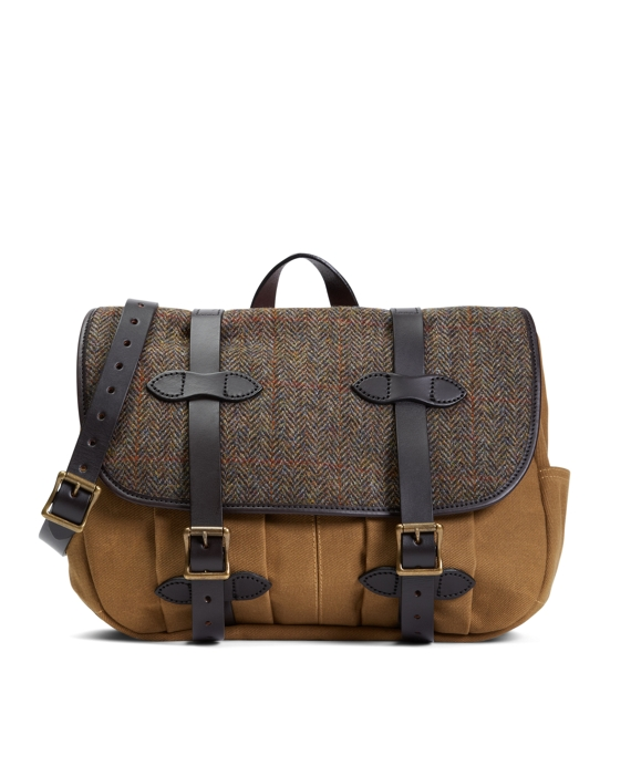 Exclusive Filson® Fabric and Leather Messenger Bag Brown