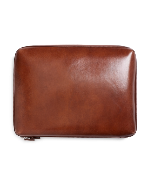 Burnished Leather Document Case Cognac