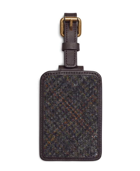 Harris Tweed Luggage Tag Green