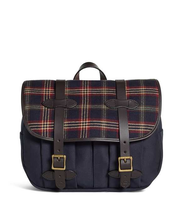 Exclusive For Brooks Brothers Filson Tartan And Canvas Messenger Navy