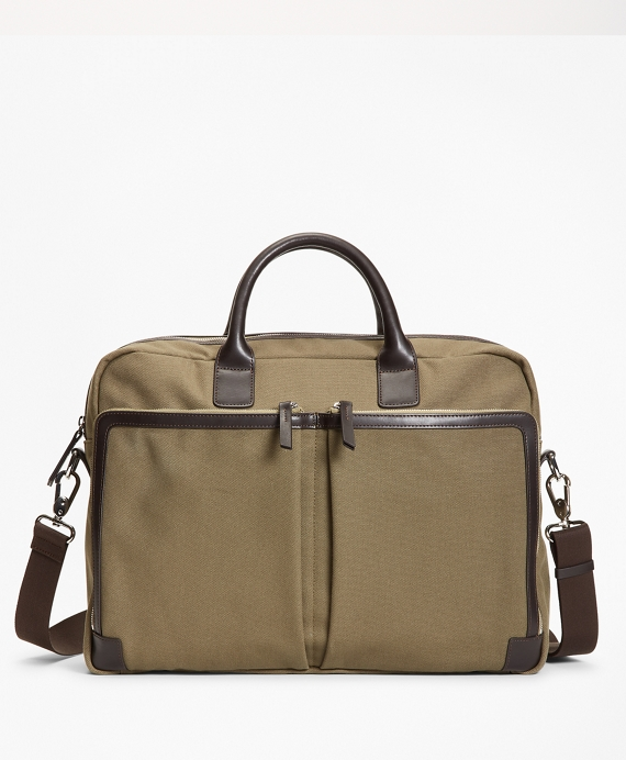 Canvas Briefcase Olive