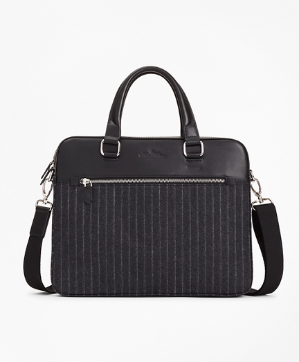 Wool Stripe Briefcase