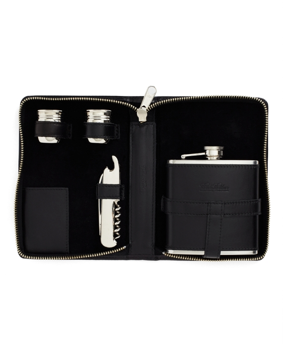 Traveling Flask Set Black