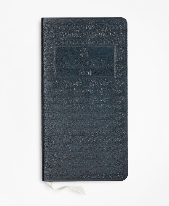 Brooks Brothers 2020 Embossed Pocket Diary Navy