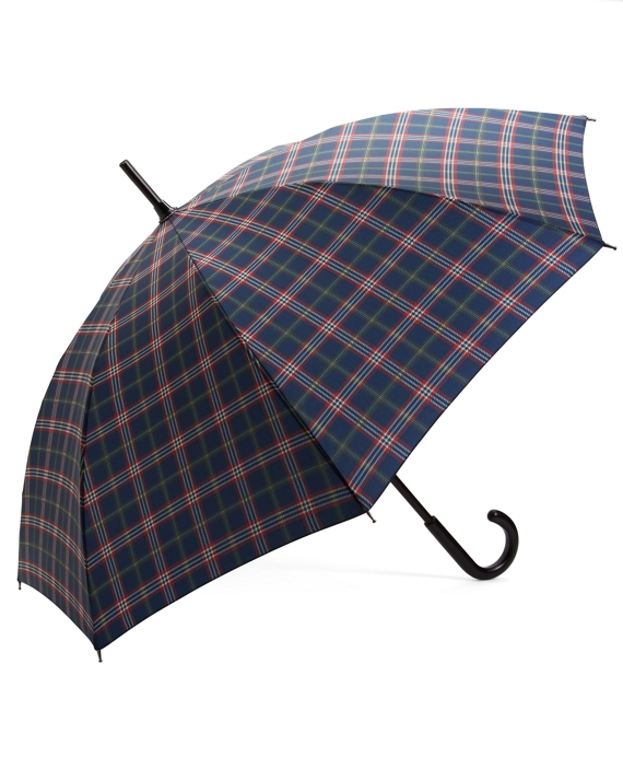 Signature Tartan Stick Umbrella Navy