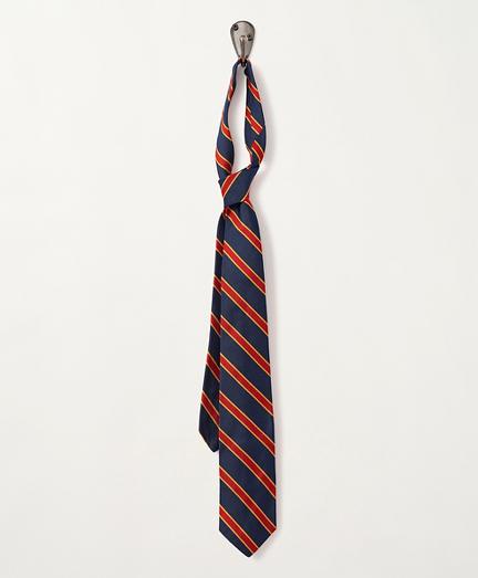 1980s BB#1 Striped Silk Rep Tie
