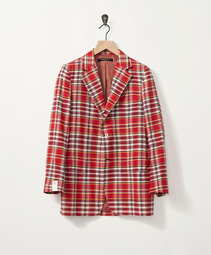 1970s Red Madras Sport Coat