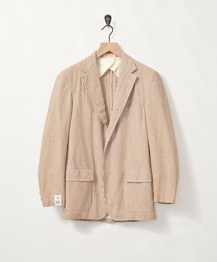1970s Brown Seersucker Sport Coat