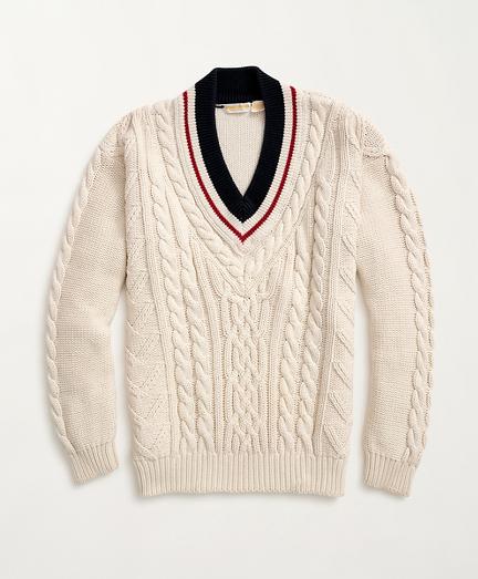 1980s Cotton Tennis Sweater