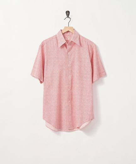 Early 1970s Geometric Print Short-Sleeve Shirt