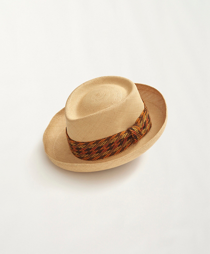 1970s Panama Hat with Knit Band