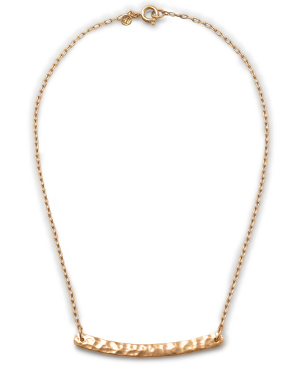 Chain Necklace with Hammered Bib