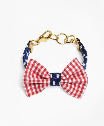 Kiel James Patrick Gingham and Polka Dot Bow Tie Bracelet